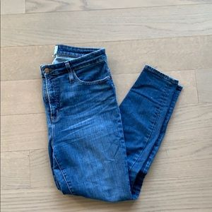 J crew High Rise Curvy Toothpick Skinny Jeans